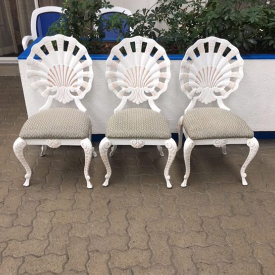 3 Wrought Iron Chairs With Cushions