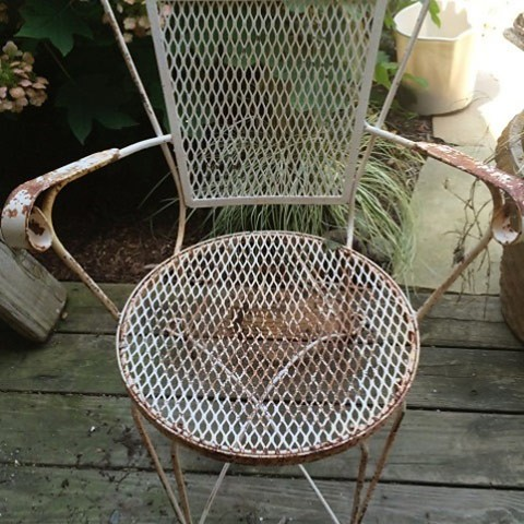 Wrought Iron Arm Chair Before