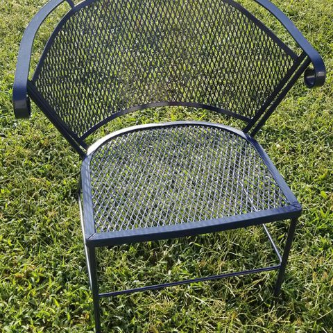 Powder Coating After - Wrought Iron Chair