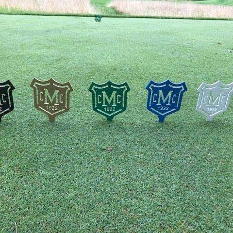 Golf Tee Markers After Restoration