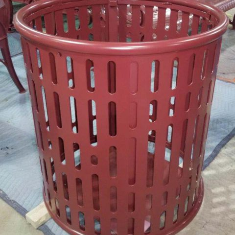 Trash Receptacle After Powder Coating