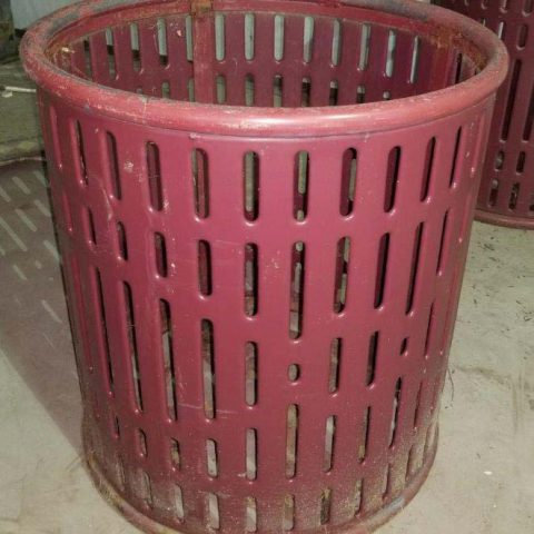 Trash Receptacle Before Powder Coating