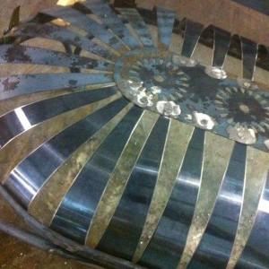 19th Century Pinwheel Spring Steel Before