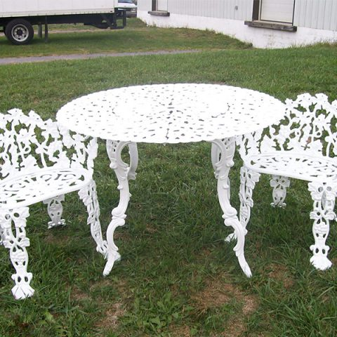 Powder Coating After - Wrought Iron Table And Chairs
