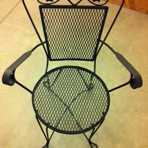 Wrought Iron Arm Chair After