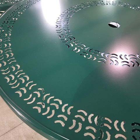 Green Table Top After Refinishing