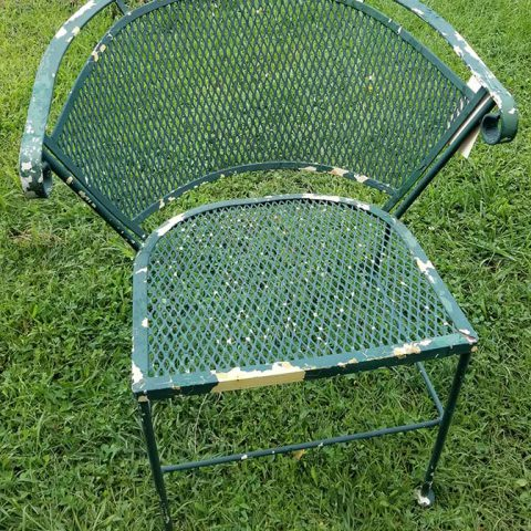 Powder Coating Before - Wrought Iron Chair
