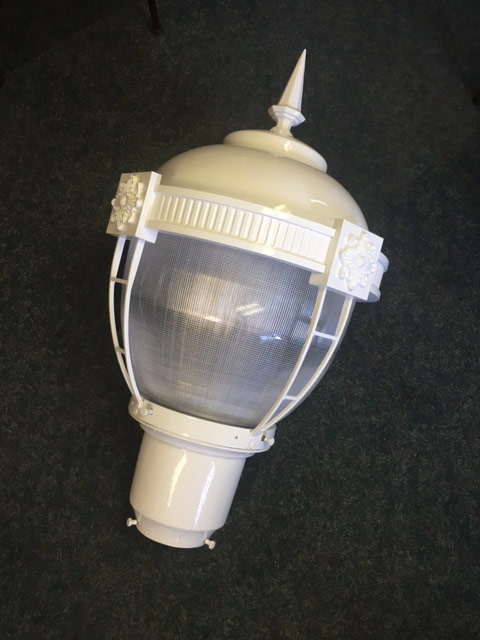 OC Post Lamp Globe - White lamp post top